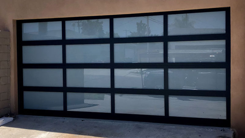 Black Aluminum Frame Garage Door slide